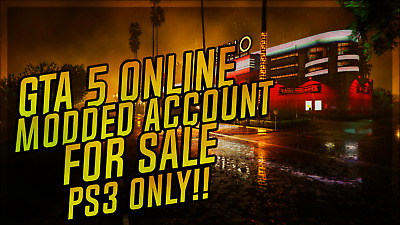Gta 5 Modded Accounts For Sale Only For Playstation 3! 16% Off *A* Delivery*