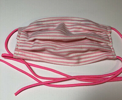 Triple Layer Cotton Pocket Face Mask With Filter, ties, nose wire
