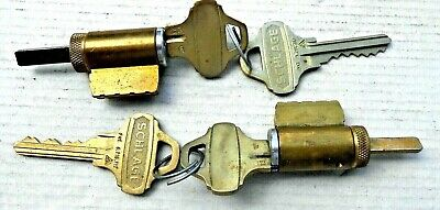 2 Schlage Everest Lever Cylinders with C123 keyway keys