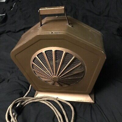 Vintage 50s /40s Art Deco Heater G And E Hotpoint