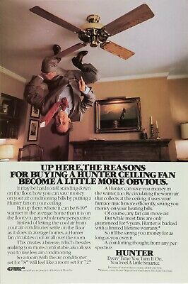 1982 Hunter Ceiling Fan : Become a Little More Obvious Vintage Print Advertising