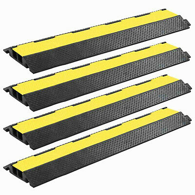 Cable Protector Ramps Dual Channel Rubber Wires Hoses Tubes Pipes Protection