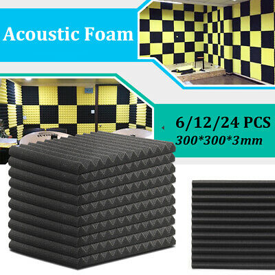 6/12/24 Acoustic Panels Tiles Studio Sound Proofing Insulation Closed Cell Foam