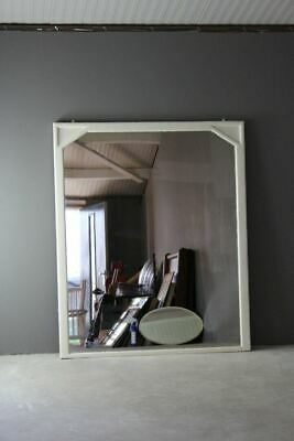 Large Antique Victorian White Overmantle Mirror
