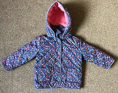 Girls Aged 2-3 M&S Marks And Spencer Coat Jacket Detachable Hood Quilted #B3