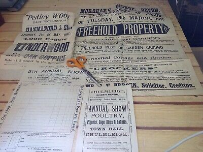 Old  Devonshire Documents Over 100 Years  Chulmleigh Area?DIFFERENT FROM PHOTOS