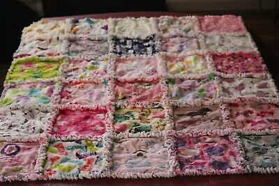 "Handmade Rag Quilt--Flannel--Baby/Toddler--Girl--  ""I Spy"""