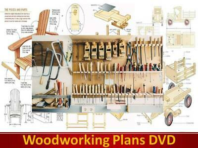 WOODWORK PLANS on DVD Sheds Toys Beds Boats Benches Projects Dolls House