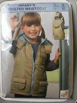Infants Quilted Waistcoat Beige Size 92 Cm Age 2 Years