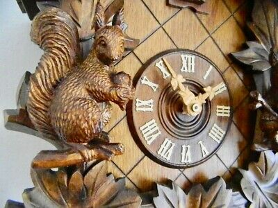 ****8 Day 3 D Carving S.edition Autentic Black Forest Cuckoo Clock****