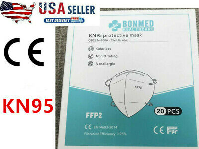 10 100 PCS BONMED KN95 Disposable Face Mask Mouth Cover  Respirator non Medical