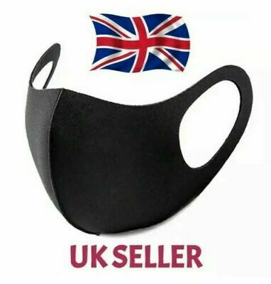 Mouth Face Mask Reusable Mask Washable Black Adult Mask Unisex