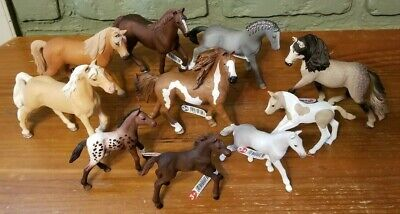 Schleich Horse Lot of 10 (6 horses & 4 foals) All New With Tags!