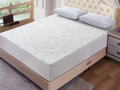 Waterproof Bamboo Mattress Protector Fitted Mattress Cover  Bedding