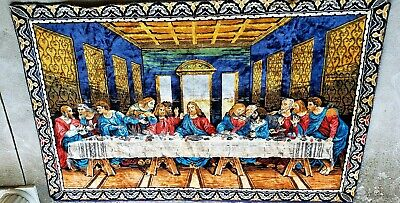 Vintage Tapestry Wall Hanging Last Supper Tapestry
