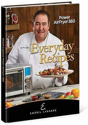 Emeril Lagasse Everyday Recipes for Power AirFryer 360 XL Hardcover Recipe Book