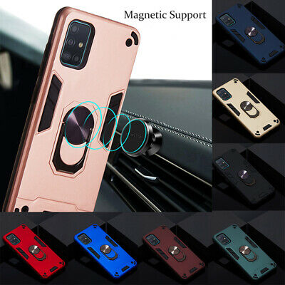 Shockproof Armor Dual Layer Bumper Rugged Ring-Stand Case Cover For Lot XiaoMi