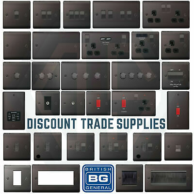 BG Black Nickel switches and sockets for as278