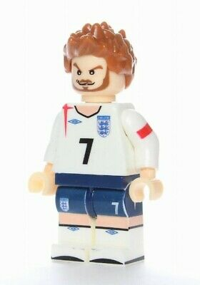 G3 - David Backham England - Custom Figures Gashapon MOC LEGO - Nuovo in Blister