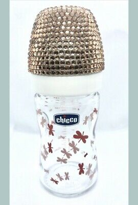 Premium Chicco Rhinestone Baby Bottle -Milk, Water, Juice Bottle- Baby Girl/ Boy