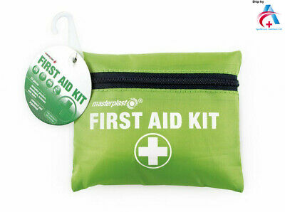 Masterplast 24 Piece Compact First Aid Kit Camping Travelling Zipped Medical Bag
