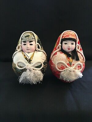 Vintage Japanese Hina Doll Pair Set, very good condition