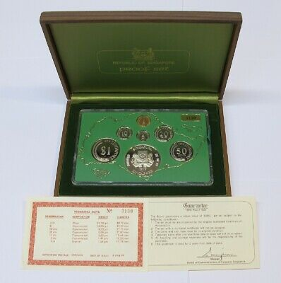 #41: 1979 Singapore Proof Year Set With Wooden Box & Coa #3130 Out Of 3,500 Sets