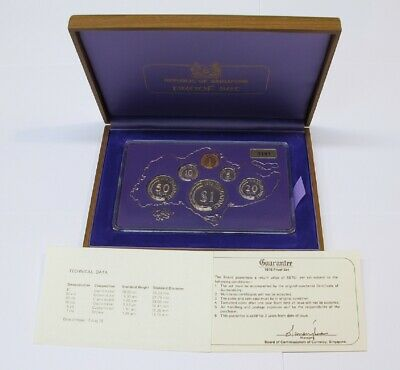 #20: 1978 Singapore Proof Year Set With Wooden Box & Coa #3101 Out Of 4,000 Sets