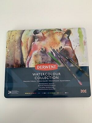 Derwent Watercolor Collection 24 Inktense Watercolour Pencils And Blocks New