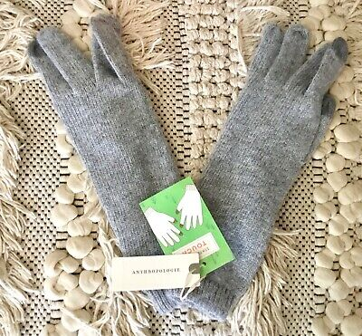Anthropologie Glove Danby Tech Friendly Knit With Cashmere Heather Gray OS NWT
