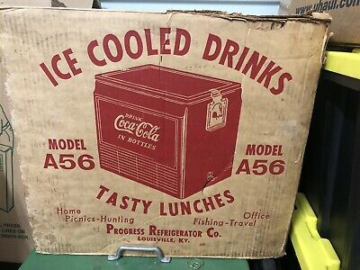 Vintage Nos Coca Cola Cooler Progress Refrigerator Co Model A56
