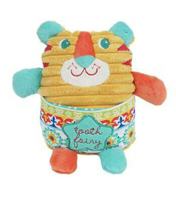 """Maison Chic Tiger Tooth Fairy 6"""" Plush with Pocket"""