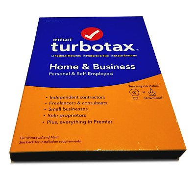 2019 TurboTax Home & Business federal e-file & state tax return for PC & Mac CD