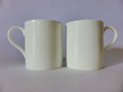 Antique Royal Doulton Classic White Demitasse Coffee Cups, Pair, 1920's