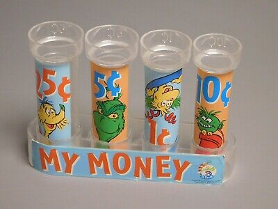 Dr. Seuss MY MONEY Coin Counter Bank VINTAGE 5 Pieces - FREE SHIPPING