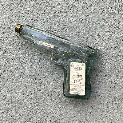 """HIJOS DE VILLA"" TEQUILA REPOSADO 9"" PISTOL/GUN-SHAPED200ml BOTTLE, EMPTY"