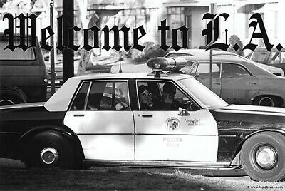 LAPD Officer Gives Finger Poster Welcome to LA 24 x 36 New
