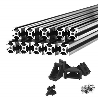 10M Combo ZYLtech Black 2020 T Slot Aluminum Extrusion and Hardware for 3D and
