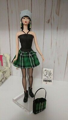 Handmade Barbie Poppy Parker Fashion Goth inspired outfit accessories