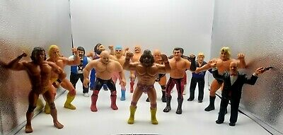Vintage Lot of (14) WWF/WWE LJN Action Figures.
