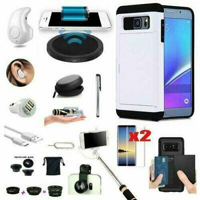 12 in 1 Case Qi Wireless Charger Headset Accessory Bundle For Samsung Galaxy