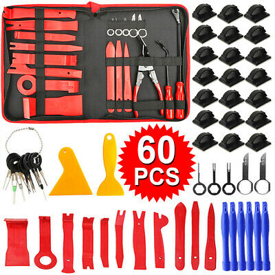 31X Car Body Door Molding Dash Panel Audio Trim Removal Pry Tool Kit Clip Pliers