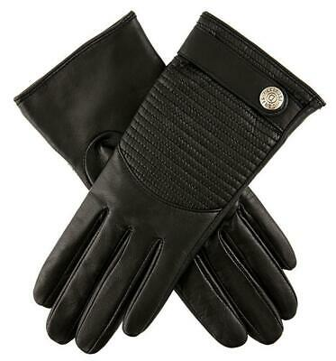 Dents Freya Women's Quilted Back Hairsheep Leather Gloves - Black