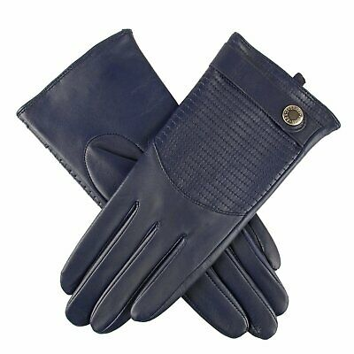 Dents Freya Women's Quilted Back Hairsheep Leather Gloves - Indigo