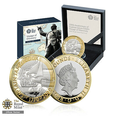 Royal Mint Captain James Cook Brand New 2020 UK Silver Proof £2 Coin