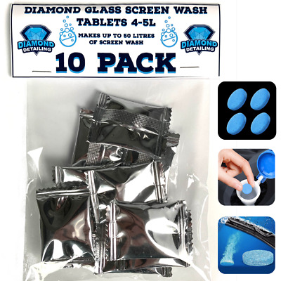 Diamond glass Car screen wash tablets | 10 pack concentrated Screenwash