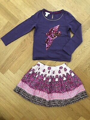 Girls Party Occasion Outfit Age Monsoon 5-6 years pink purple 100% cotton