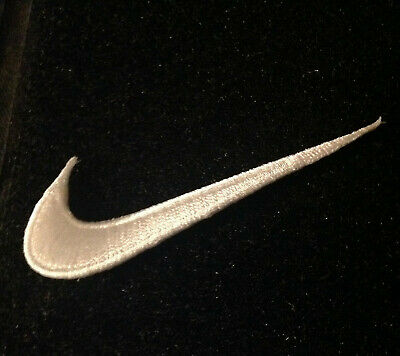 """3.5""""  White swoosh Sports Basketball Nike Back to Future McFly Patch"""