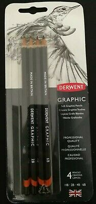 Derwent Graphic Drawing Pencil - Pack of 4
