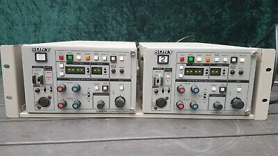 2 x Sony CCU-TX50 Triax System Base Station Camera Control Unit (Remote seperate